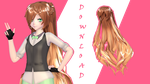 xX MMD Xx Curly Long Hair + DL! [Special 100W] by Yoko-ChanYT