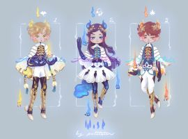 ::WISP:: Adoptables Auction No.1~3 { CLOSED } by petitster