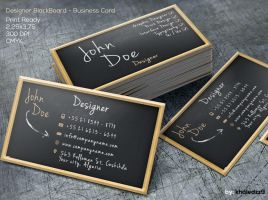 Designer BlackBoard Business Card by khaledzz9