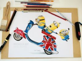 Minions - color pencils by byMichaelX