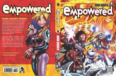 EMPOWERED vol.8's front + back cover by AdamWarren