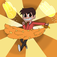 Marco Diaz uses two power magics with a wand! by Deaf-Machbot
