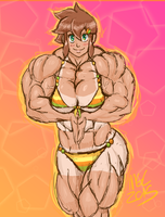 She's been working on her tan by MGChaser