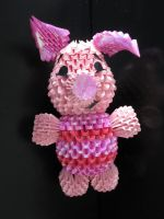 3D Origami Piglet by Jaxster115