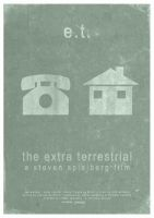 E.T. The Extra Terrestrial - Minimalist Poster by 3ftDeep