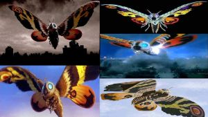 Mothra Over the Years by Super-Flamin-Angel