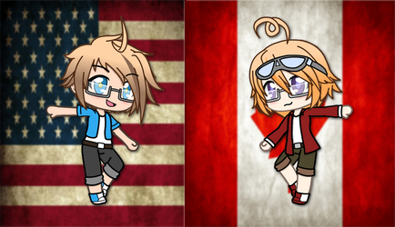 (Gachaverse) North American Brothers by IggyAlfi2319