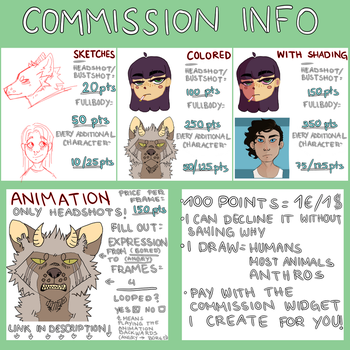 COMMISSIONS [OPEN] by Taatzi