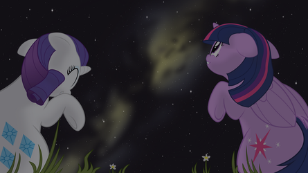 Tapestry Illustration - Stargazing by Eagle1Division