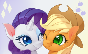 Rarity and Applejack by LordYanYu