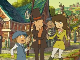 Professor Layton And The Swapping Village! by KayTheYatagarasu