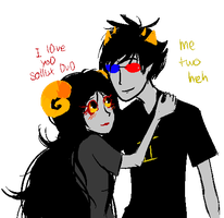 Sollux and Aradia by Nerusprite