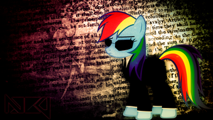 Agent Rainbow Dash Wallpaper by TygerxL
