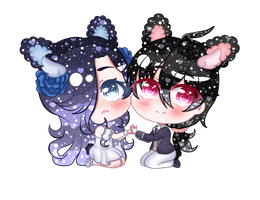 [Commission] Douce-Edel - Ambroise + Paendeo by Bakangiie