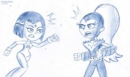 Sketch Fight Go! by SB99stuff