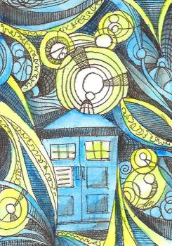 Timey Whimey, Original Dr Who Fan Art by GodsDreamer
