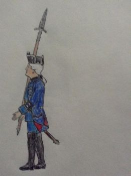 Hort Frei Infanterie NCO (Prussia 7 years war) by leptoceratops