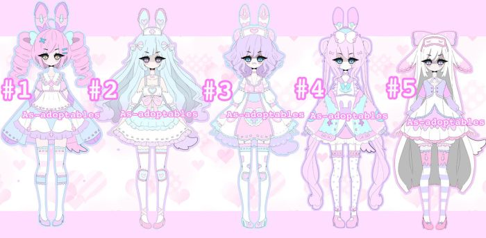 Pluffy Bunny adoptable BATCH OPEN by AS-Adoptables