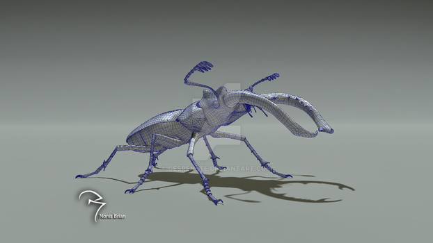 Stag Beetle wireframe by Gespenste