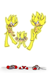 [COMMISSION] Super Modern, Boom, and Classic Sonic by GottaGoBlast