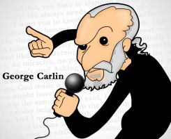 George Carlin by TomTrager