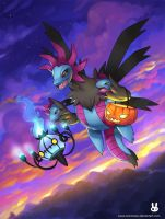 Pokeswap Halloween: Hydreigon and Chandelure