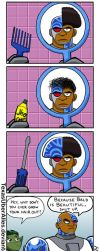 Bad Hair Day: Cyborg by TexasUberAlles