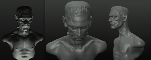 Monster - Boris Karloff - digital sculpt by Harnois75