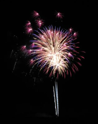 Red, White and Blue Firework Stock by WDWParksGal-Stock