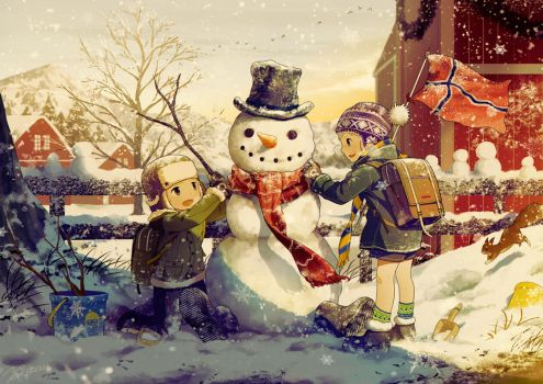 Noteworthy Snowman by NOEYEBROW