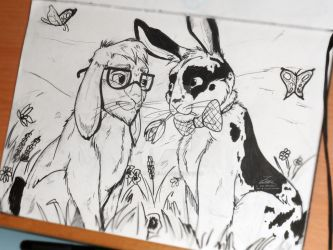 Marlon Bundo X Wesley sketch by LeoMitchell