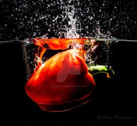 Red pepper drop by BlueBlur7000