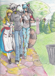 Stroll in the Park by Ashaki