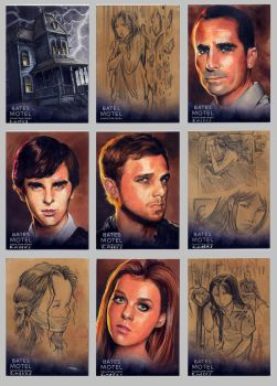 Bates Motel Sketch Cards #3 by Kapow2003