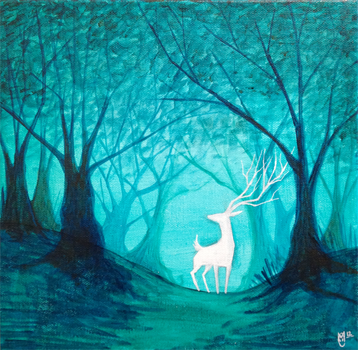 White Stag by AngryPotato