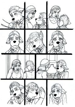 Issue 2 page 13 linework by Benjamin-the-Fox