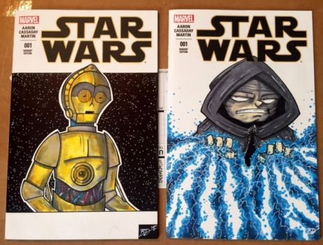 Star Wars Sketch Covers by bdeguire