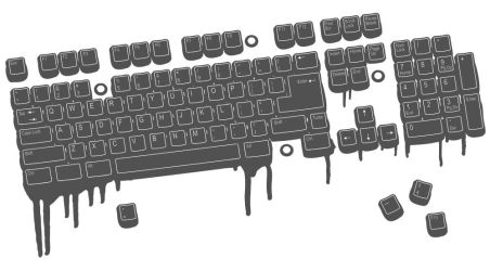 Computer Keyboard Vector Art by wall-decal-shop
