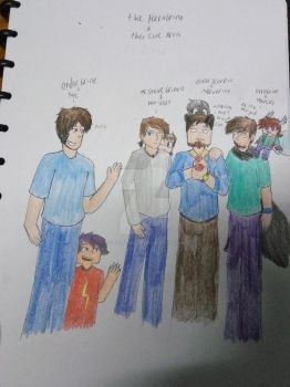 Herobrine and there cute artist by sonickthecat