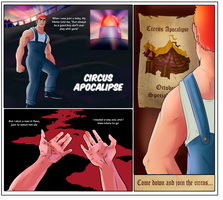 Special TG Comic - Circus Apocalipse 1/17 by TheMightFenek