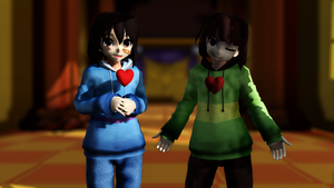 [MMDxUndertale] The Dreemurr Twins [DL DOWN] by MephistaTheDark