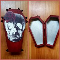 'Queen of Death' Coffin Box by CrimsonsCreations