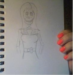 WIP Skeleton girl by Popgal120