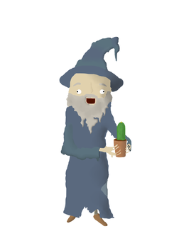 Gandalf holding a cactus by Fafelot