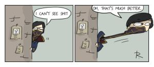 dishonored, doodles 36 by Ayej