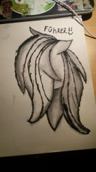 Testing-Charcoal and ink  by FuhrerAlca