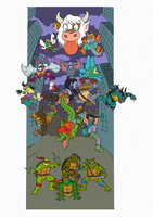 Teenage Mutant Ninja Turtles by Crazymobius