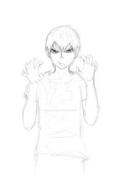 Tobio kageyama WIP sketch by WickedMinish