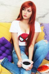 Waiting for my Tiger (Mary Jane Cosplay) by Naru-Langley