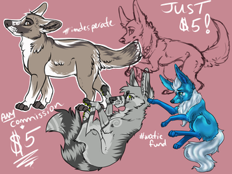 Any type of commission JUST $5!! by alg1234